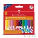 Faber-Castell JUMBO Grip Kreide - 12er Kartonetui - radierbar