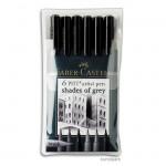 Faber-Castell pen BRUSH - 6er-Set GREY