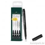 Faber-Castell PITT artist pen - 4er Set - schwarz