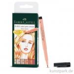 Faber-Castell PITT artist pen Brush - 6er Set - SKIN