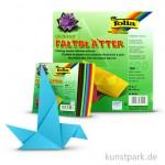 Faltblätter eckig, 100 Blatt, 70g - farbig sortiert
