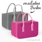 Filztasche zweifarbig