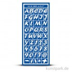 Flexible Designschablone 12,5x28,5 cm - A,B,C - selbstklebend