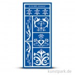 Flexible Designschablone 12,5x28,5 cm - Ornaments - selbstklebend