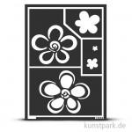 Flexible Designschablone A5 - Blumen - selbstklebend