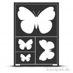 Flexible Designschablone A5 - Schmetterlinge - selbstklebend