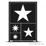Flexible Designschablone A5 - Sterne - selbstklebend