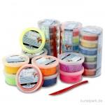 Foam Clay - XXL-Set, 18 Stück 14g, 10 Stück 35g, sortierte Farben