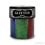 Glitter in strahlenden Farben - Dunkel, Streudose, 6x13 g