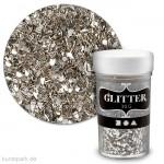 Glitterflocken - Silber, 1-3 mm, 30 g