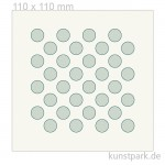 Grafische Schablone - Dicke Punkte, Größe 110x110 mm