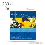 Hahnemühle Öl- und Acrylmalkarton, 10 Blatt, 230g, Leinenprägung 30 x 40 cm