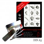 Hahnemühle Skizzenblock DIN A3, 100 Blatt, 96g und 6 Bleistifte