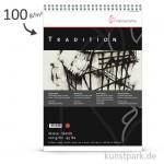 Hahnemühle TRADITION Skizzenpapier, 50 Blatt, 100g, fein, spiral