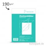 Hahnemühle Zeichenblätter, 20 Blatt, 190g, Randdruck, Schulschriftfeld