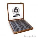 Schmincke Holz-Leerkasten dunkel - für 45 Pastell-Stifte