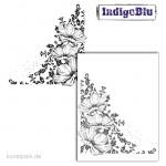 IndigoBlu Stempel - Anemone Corner - 130x120 mm