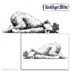 IndigoBlu Stempel - Sleeping George - 100x45 mm
