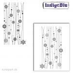 IndigoBlu Stempel - Snowflake border - 130x75 mm