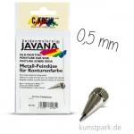 JAVANA Metalldüse mit Gewinde 0,5 mm