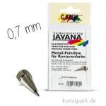JAVANA Metalldüse mit Gewinde 0,7 mm