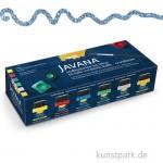 JAVANA Textil Glitter - Creativ-Set, 6 x 20 mlPinsel