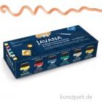 JAVANA Textil Metallic - Creativ Set, 6 x 20 ml