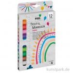 JAVANA Textil Texi Mäx Sunny-Set - 12 Stoffmalstifte