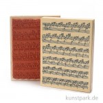 Judi-Kins Stamps - Notenblatt Hintergrund - 13x17 cm