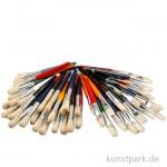 Kinderpinsel Sortiment, Rund- und Flachpinsel, 60 sortiert
