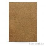 Kork-Papier - Granulat, 20,5x28 cm, 1 Bogen, selbstklebend