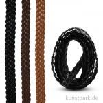 Kunstlederband geflochten 12 mm, 1,5 m