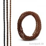 Kunstlederband geflochten 3 mm, 1,5 m