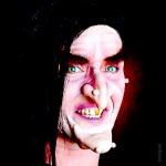 Latex-Maske Hexe