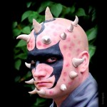 Latex-Maske Krallenhörner