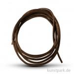 Lederband dunkelbraun, Länge 70 - 80 cm