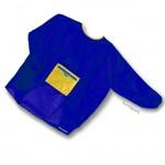 Malkittel aus leichtem Nylon groß, Blau 9-12 Jahre