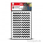 Marabu Mixed Media ART STENCIL DIN A4 - Chevron Pattern
