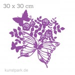 Marabu Schablone Silhouette 30x30 cm - Butterfly & Roses