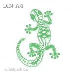 Marabu Schablone Silhouette DIN A4 - Climbing Gecko