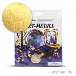 Metallfolie 10-Blatt, 140 x 140 mm Farbton: Mittelgold