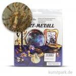 Metallfolie 10-Blatt, 140 x 140 mm Oxydmetall-BLAU