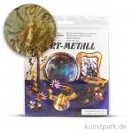 Metallfolie 10-Blatt, 140 x 140 mm Oxydmetall-GRÜN