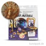 Metallfolie 10-Blatt, 140 x 140 mm Oxydmetall-ROT