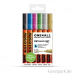 Molotow ONE4ALL Marker - 127HS Metallic-Kit 6er