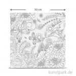 Motiv-Keilrahmen Blumen 2, 30x30 cm