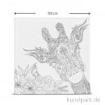 Motiv-Keilrahmen Giraffe, 30x30 cm