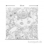 Motiv-Keilrahmen Katze, 30x30 cm