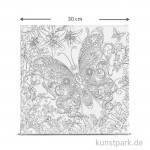 Motiv-Keilrahmen Schmetterling, 30x30 cm