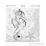 Motiv-Keilrahmen Seepferdchen, 30x30 cm
